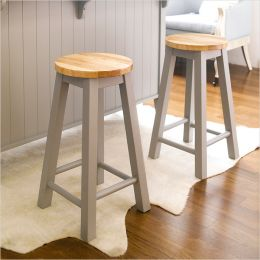 Roommate-Grey-ST  Wooden Stool