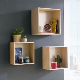 Square-Nat/Wht   Wall Racks  (3개 포함)