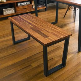 Ziva-Walnut-Bench  Metal Bench