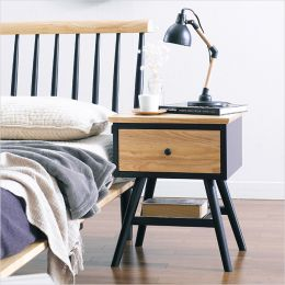 Browny-Nat/Black-NS  Side Table
