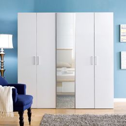 MC-8050  Triple Closet w/ Mirror Door