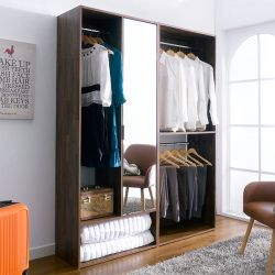 WC-201-AB 2-Unit Closet w/ Mirror