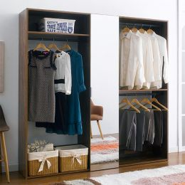 WC-720-Acacia  3-Unit Closet  w/ Mirror