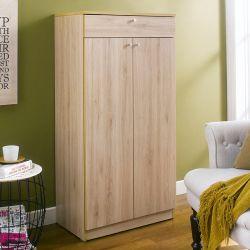 SHC-60-Oak  Shoes Cabinet