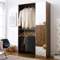 WC-730-Acacia  2-Unit Closet  w/ Mirror