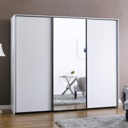 SC-103MC-White  3-Unit Sliding Closet