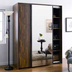 SC-102MC-Acacia  2-Unit Sliding Closet