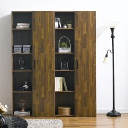 WB-304-Acacia  Wall Bookcase  (4 Pcs)