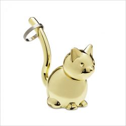 Zoola Cat-Brass  Ring Holder