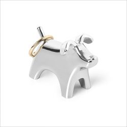Anigram Dog-Chrome  Ring Holder