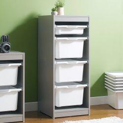 Kreo-GRY-WHT-4  Storage Box