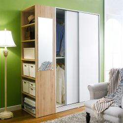 SC-800-White/OAK-06  2-Unit Closet