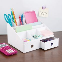 42011ES  Linus Desk Organizer-White