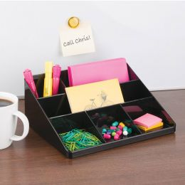 42067ES  Linus Desk Mail Center-Black