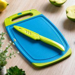 13276-Blue/Green  Board & Knife Set