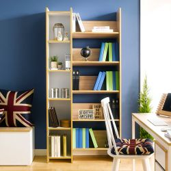 ABBA-Wht/Oak  Bookcase