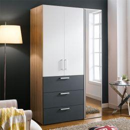 WD-200C-WG-Mirror  Double Closet