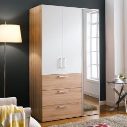 WD-200C-WO-Mirror  Double Closet