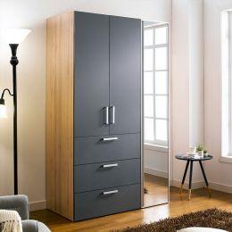 WD-200C-GG-Mirror  Double Closet