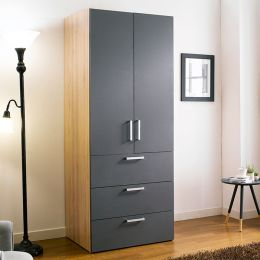 WD-200C-GG  Single Closet w/ 3-Drawer