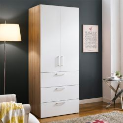 WD-200C-WW  Single Closet w/ 3-Drawer