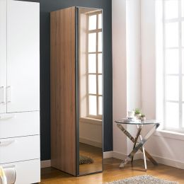 WD-1000-BLK-M  Single Closet w/ Mirror Door