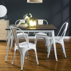 HW-4C  Dining Set  (1 Table + 4 Chairs)