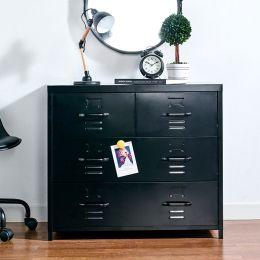 LLC-073A-Black  Metal Cabinet