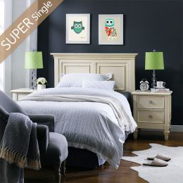 Heidi-SS-HB  Super Single Panel Bed
