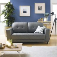 Dei-Gray  Leather-Look Sofa
