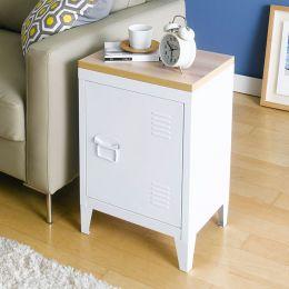 (0) Grave-White  Metal Cabinet