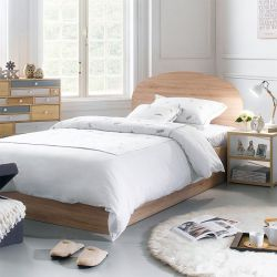 SSB-1100-Oak  Super Single Bed
