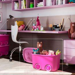 Funny Box-Pink Storage Box   (뚜껑포함)