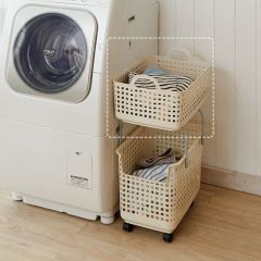 LB-07A-IV  Stacking Basket-Top