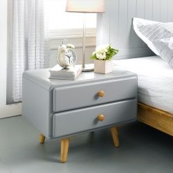 Rora-2DR-Grey   Side Table