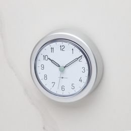 22740EJ  Aluminum Suction Clock