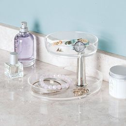 09565EJ  Gina Vanity Tray - Two-Tier Rotating