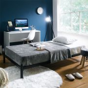 H9441-Black-1100  Super Single Metal Bed