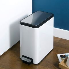 EK9376MT-8L-WH  Slim Step Trash Bin