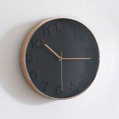 WC-3304-Black Wall Clock