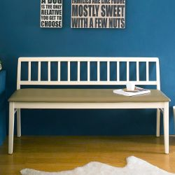 Miso-Ivory-Long  Wooden Bench