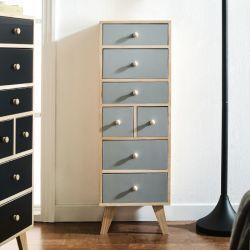 Judy-Grey  7-Dr Storage Cabinet