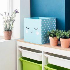 Deco Box-Smile-Blue  Foldable Box