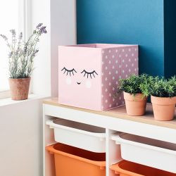Deco Box-Smile-Pink  Foldable Box