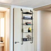 Fassi-5-Black 5-Door Shelf