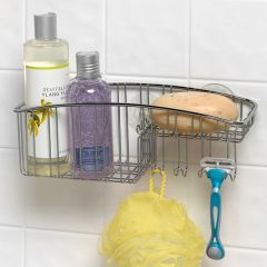 SPC-02469  Shower Basket w/ Hooks