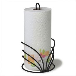 SPC-95410  Flower Towel Holder Black