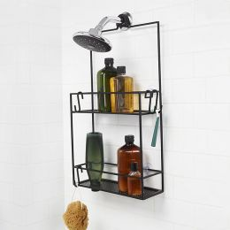 023461-040  Cubiko Shower Caddy-Black