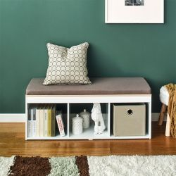 J3-Vintage-KK  Storage Bench w/  Cushion