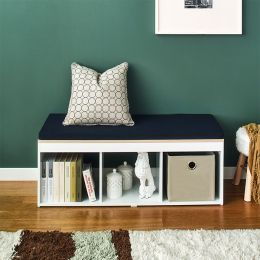 J3-Vintage-NV  Storage Bench w/  Cushion